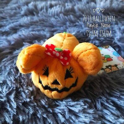 NEW Authentic Disney Store Japan 2016 Halloween Pumpkin Minnie Tsum Tsum