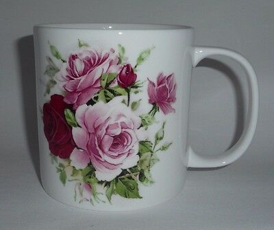 BN Boxed Vintage Style Summertime Rose Very Large 18oz Fine Bone China Pint Mug