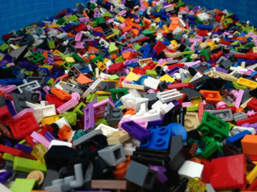 U LEGO 100 Random SMALL Pieces: Cone, Plate, Brick, building mix lot Tiles