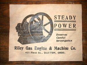 689-VINTAGE-REPRINT-ADVERT-RILEY-HIT-amp-MISS-GAS-ENGINE-DAYTON-OHIO-11-034-x14-034