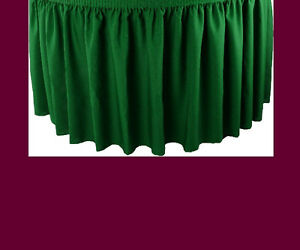 21' BURGUNDY PREMIUM FLAME RETARDANT TABLE SKIRTS FIRE RESISTANT TABLE SKIRTING