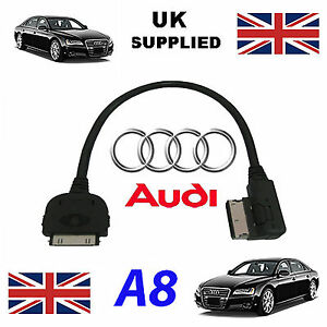 NUEVO-AUDI-A8-D4-2010-AMM-MMI-4f0051510r-iPhone-iPod-Audi-O-cable-de-video