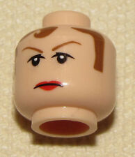 LEGO NEW MINIFIGURE HEAD RED HAIR AGENTS WITH GRIN SANTA/'S HELPER MINIFIG FACE