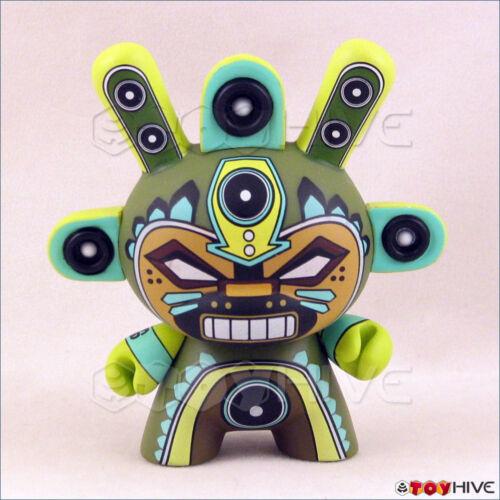 Kidrobot Dunny 2011 Azteca II 2 vinyl figure green MInigod by Marka27 loose