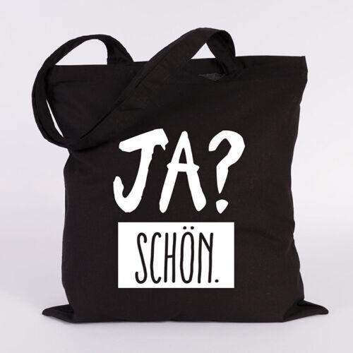 """JUNIWORDS Jutebeutel Motiv /""""Ja Schön/"""" verschiedene Farben Tasche Spruch"""