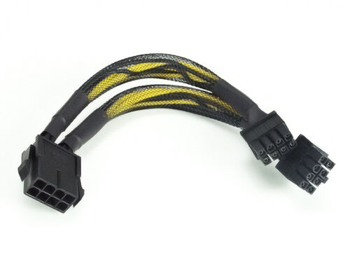 """NEW 6/"""" KDM-CBL-828 EPS-12V 8pin Y-splitter Power Cable"""