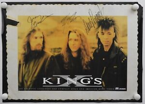 King-039-s-X-JSA-Signed-Autograph-Promo-Poster-Fully-Signed-Doug-Pinnick-Ty-Tabor