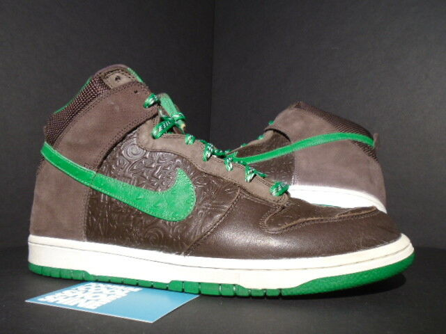 2006 Nike SB Dunk High Stussy World Tour London Brown Green White  315593-221 11 for sale online  fb88e719d439