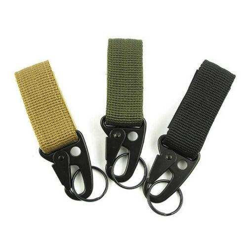 Tactical Hanging Belt Carabiner KeyHook Webbing D-Buckle Strap Clip Backpack GEM
