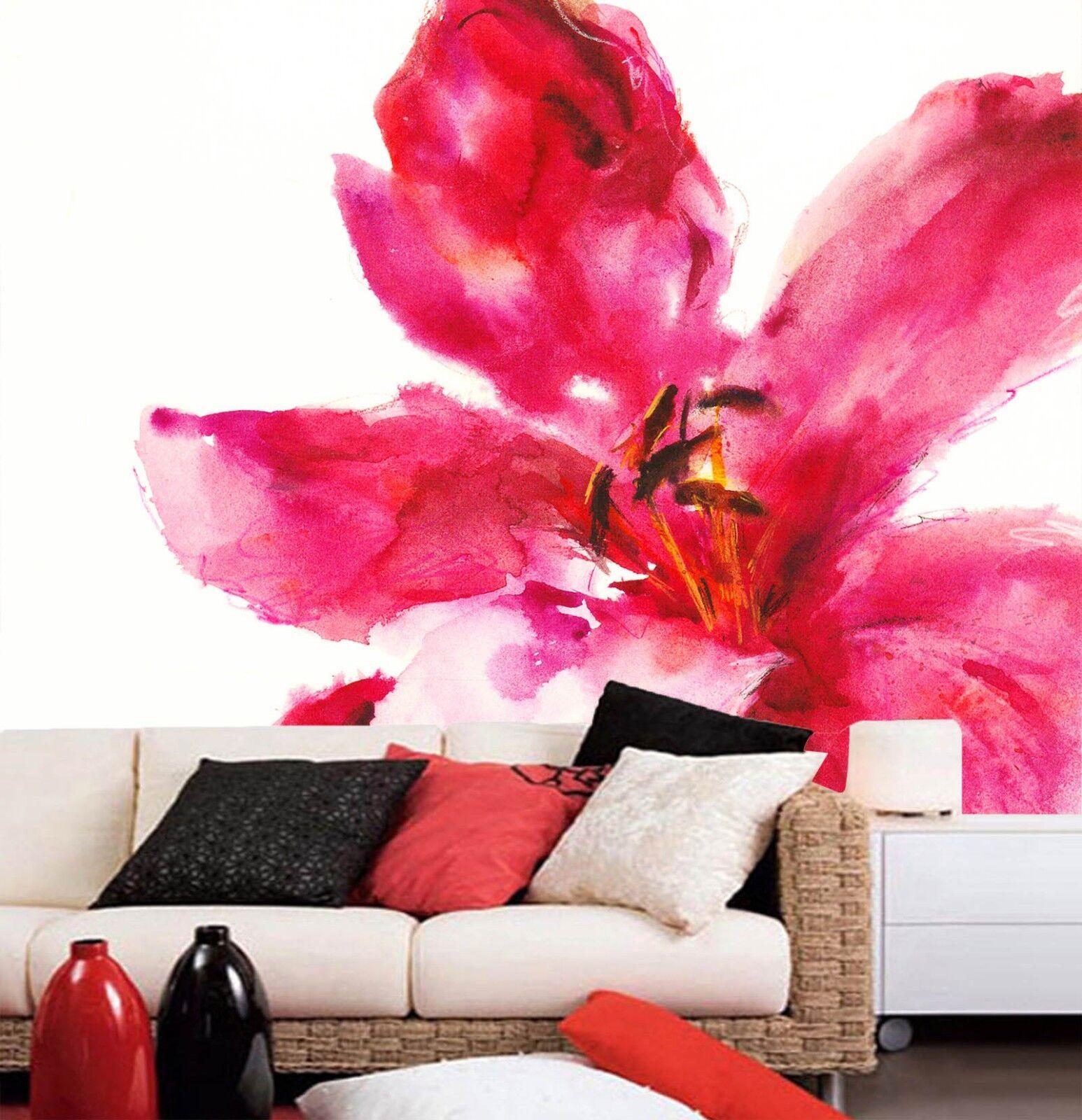 3D Painted Bloom Flowers 022 Wall Paper Wall Print Decal Wall AJ WALLPAPER CA