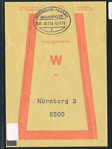 81446) Vorbindezettel Bahnpost Nuremberg-passau Train 22224 1979 > Nuremberg-afficher Le Titre D'origine Fixation Des Prix En Fonction De La Qualité Des Produits