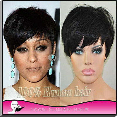 HQ 6INCH 2 Color Choice 100% Brazilian Human Hair Short Wig for Black Women