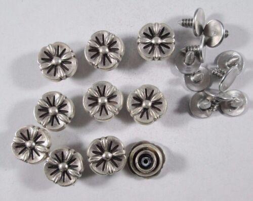 Jeans botón 10 trozo con remaches de plata botones 12,5 mm #630#