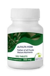 Alfalfa-Herb-500mg-30-60-90-120-180-250-Veg-Tablets-Pills