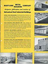 Mro Brochure Maryland Metal Galvanized Steel Buildings C1952 Mr204