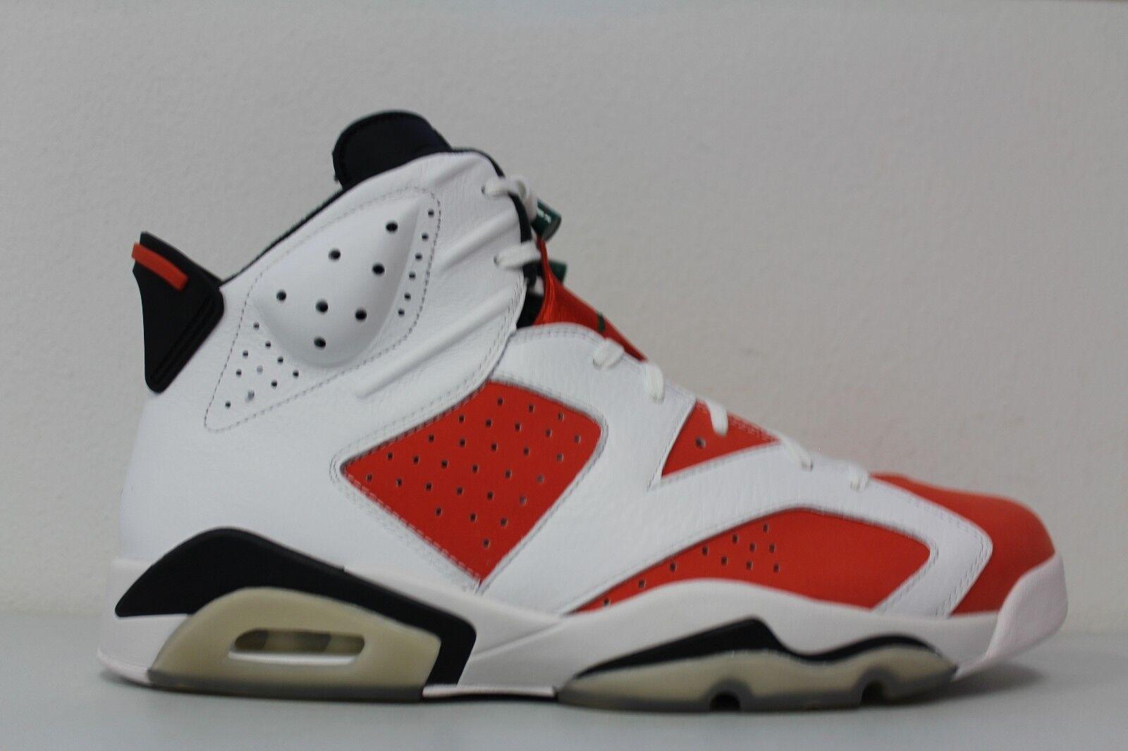 Nike air jordan 6 uomini gatorade retrò vi vertice 384664-145 arancione bianco numero 13
