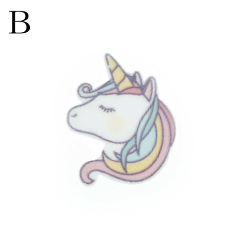 10pcs Flat Back Resin Cabochon Resin Unicorn DIY Decor Craft Embellishm new.