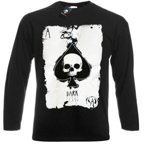 PUNK//METAL//FUNNY//JOKES//CELTIC//TRIBAL//SKULL//Biker//Halloween//Long Sleeve T Shirt