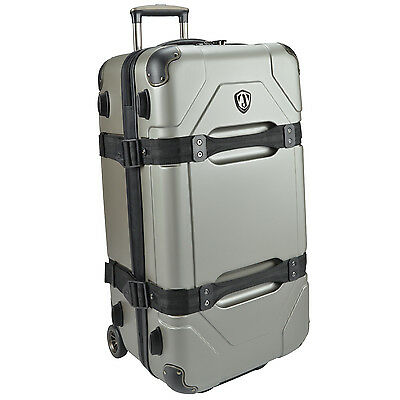 "Traveler's Choice Maxporter Polycarbonate 28"" Rolling Trunk Luggage Suitcase Bag"