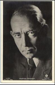 1950-60-Portraet-AK-Film-Buehne-Theater-Schauspieler-MATHIAS-WIEMAN-Ufa-Foto-Binz