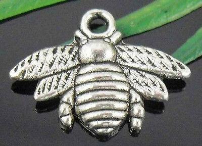 Free Ship 90Pcs Tibetan Silver Bee Charms 21.5x16mm