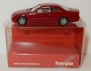 MICRO-HERPA-HO-1-87-MERCEDES-BENZ-CL-COUPE-ROUGE-FONCE-METAL-032880-IN-BOX