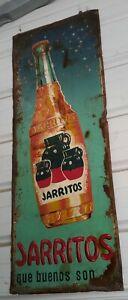 JARRITOS ORIGINAL TIN SIGN IMPORTED FROM MEXICO 1950'S RARE
