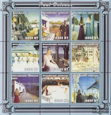 In Mosambik 2025-2033 Sheetlet Unmounted Mint Never Hinged 2001 Art Excellent Quality