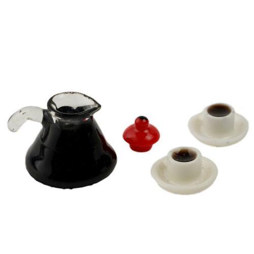 Cafe Shop Wasserkocher Tasse Set 1:12 Puppenhaus Dollhouse Kaffee Miniature N2U2