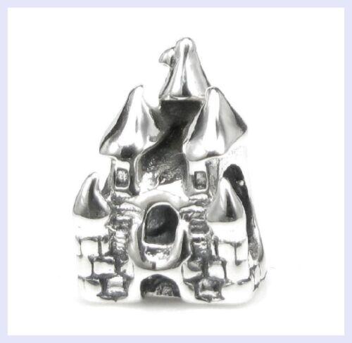 925 Sterling Silver Fairytale Sand Castle Beach Bead for European Charm Bracelet