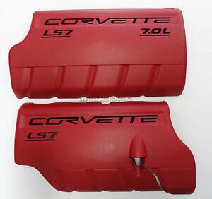 Car & Truck Parts 06-13 LS7 Corvette Z06 Fuel Rail Engine Coil Cover LH RH New GM RED