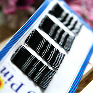 60Pcs-BLACK-invisible-Hair-Clips-Wave-Top-Bobby-Pins-Grips-Salon-Barrette-Women