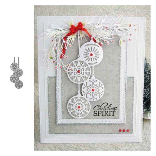 Weihnachten Schneeflocke Metall Stencil Cutting Dies Scrapbooking Stanzschablone