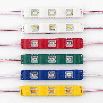 5050 RGB 3LEDs Module Injection Decorative Waterproof LED Strip Light Lamp DC12V