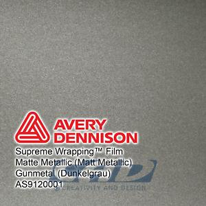 36,65 € // m 3 m Avery Supreme Car Wrapping Film Folie dunkelgrau matt metallic