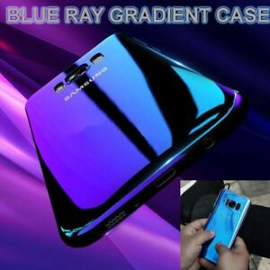 Blu-Ray-Gradient-Colour-Mirror-Hard-Back-Case-Cover-For-Samsung-Galaxy-S7-S8-S9