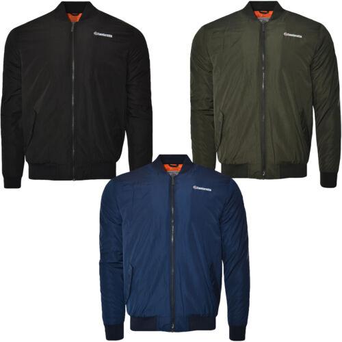 Lambretta Mens MA1 Badged Casual Retro Long Sleeve Full Zip Bomber Jacket Coat