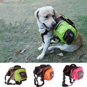 Pet Dog Saddle Bag Backpack Carrier Knapsack Outdoor Hiking Camping Travel S-XL