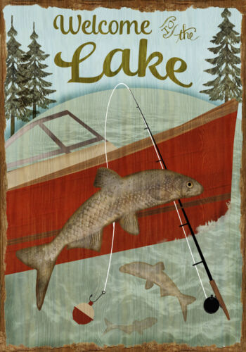 Welcome To The Lake 18x12 Print Poster by Beth Albert
