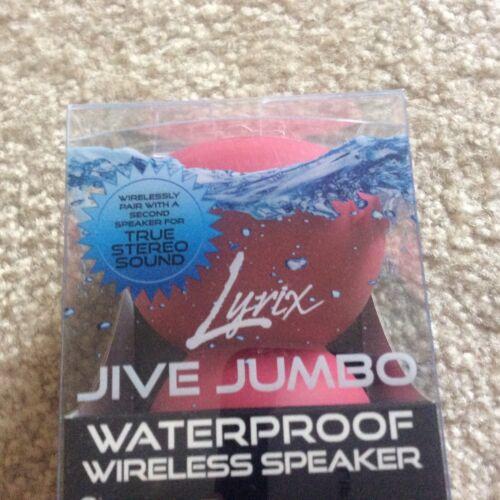 Lyrix Jive Jumbo Waterproof Bluetooth Speaker Red mounts inside to window by s