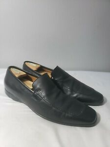 """gucci driving """"mocs"""" moccasins 212415 black leather casual"""
