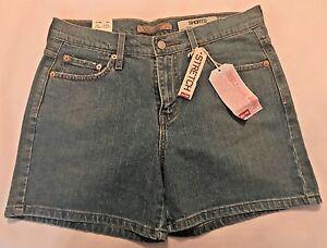 NWT-LEVI-039-S-Womens-Med-Blue-Denim-Jean-Shorts-Various-Sizes