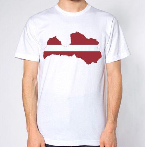 Lettonie new t-shirt pays drapeau top plan de ville