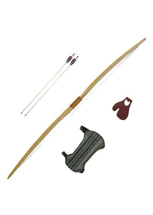 Battle Merchant jinete arco aduana 50 con cuerda sujetador arco la edad media LARP