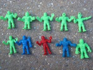 vintage-M-U-S-C-L-E-toy-lot-10x-green-blue-color-1980s