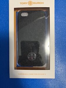 Tory-Burch-Hardshell-Case-for-iPhone-5-Black-with-Silver-Logo-NWT