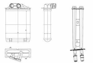 NRF (54415) Wärmetauscher Innenraumheizung für FIAT ABARTH