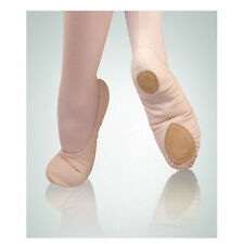 "Body Wrappers 246C Girl Size 13.5 ""Wendy"" Peach Canvas Split Sole Ballet Slipper"