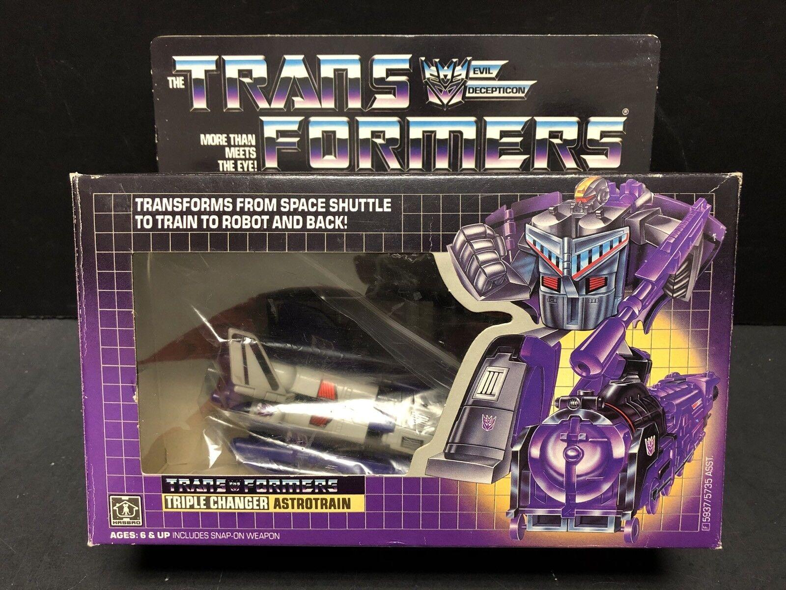 Vintage 1985 Transformers G1 Triple Changer Astrojorain With Box ATL0301