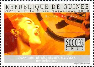 Guinea postfrisch MNH Billie Holiday Usa Sänger Musiker Jazz Swing Musik